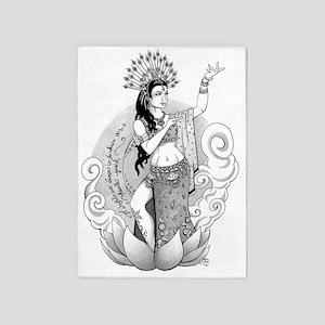 Goddess of the Dance 5'x7'Area Rug