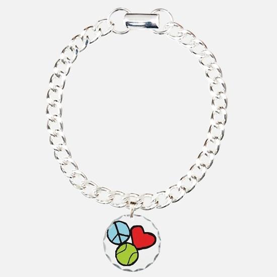 Peace, Love, Tennis Bracelet