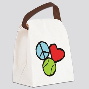 Peace, Love, Tennis Canvas Lunch Bag