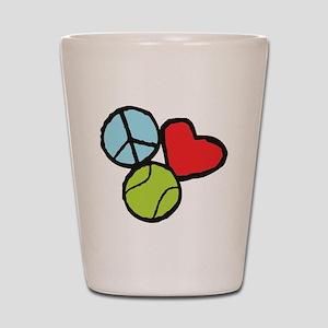 Peace, Love, Tennis Shot Glass