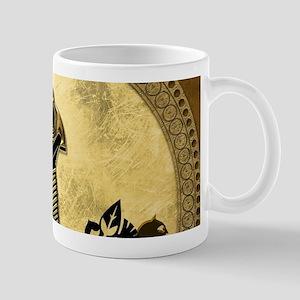 Anubis the egyptian god, gold and black Mugs