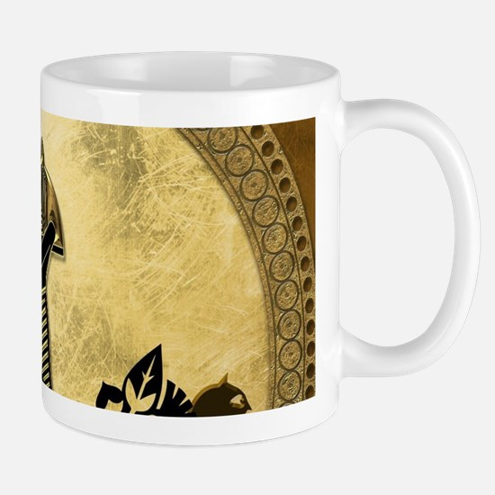 Anubis the egyptian god, gold and black Mugs