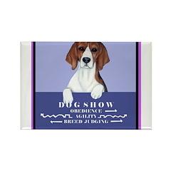 Dog Show Beagle Rectangle Magnet (100 pack)