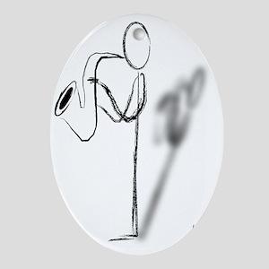 Sax Man Oval Ornament