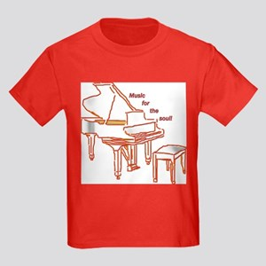 Music for the Soul (red) Kids Dark T-Shirt