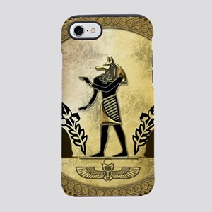 Anubis the egyptian god, gold and black iPhone 7 T