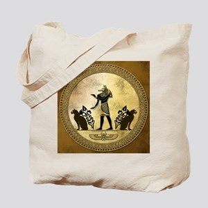 Anubis the egyptian god, gold and black Tote Bag