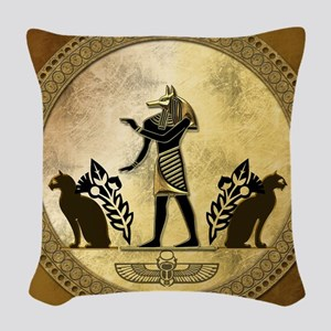 Anubis the egyptian god, gold and black Woven Thro