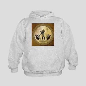 Anubis the egyptian god, gold and black Sweatshirt