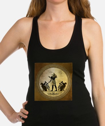 Anubis the egyptian god, gold and black Tank Top