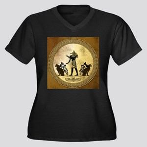 Anubis the egyptian god, gold and black Plus Size
