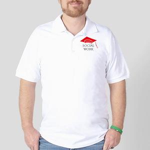 Red SW Grad Cap Golf Shirt