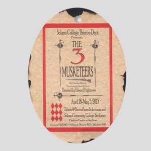 3 Musketeers Poster Oval Ornament