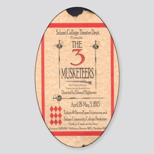 3 Musketeers Poster Sticker (Oval)
