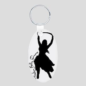 Aalim Sword Dancer Aluminum Oval Keychain