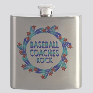Baseball Coaches Rock Flask