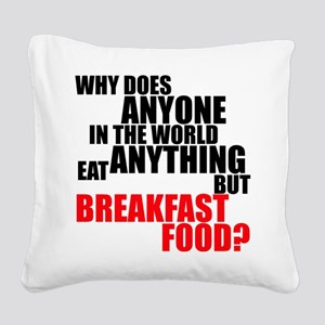 Breakfast Food Square Canvas Pillow