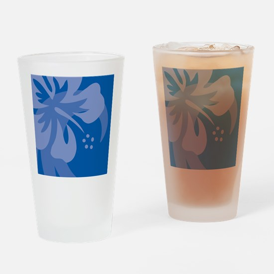 Blue Puzzle Drinking Glass