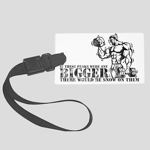 Big Biceps Peaks Large Luggage Tag