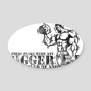 Big Biceps Peaks Oval Car Magnet