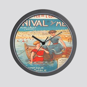Vintage French Nautical Poster Wall Clock