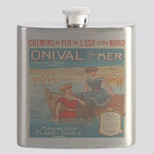Vintage French Nautical Poster Flask