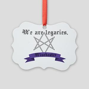 Legacies in purple Picture Ornament