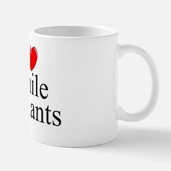 """""""I Love (Heart) Penile Implants"""" Mug"""