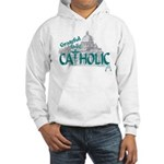 Grateful to be Catholic (Teal) Hooded Sweatshirt