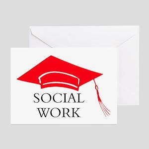 Red SW Grad Cap Greeting Cards (Pk of 10)