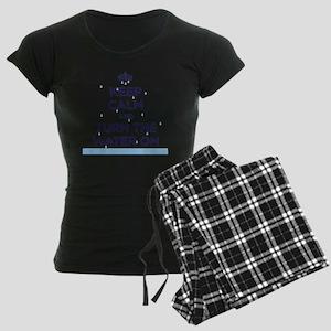 water on Women's Dark Pajamas