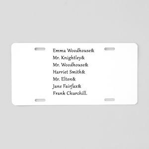 Emma Names Aluminum License Plate