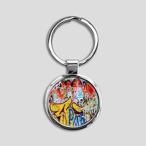 Colorful Graffiti Round Keychain
