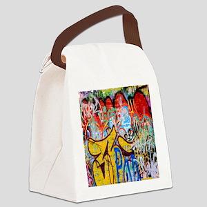 Colorful Graffiti Canvas Lunch Bag
