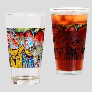 Colorful Graffiti Drinking Glass