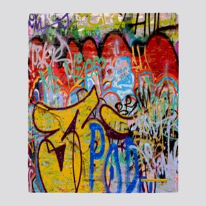 Colorful Graffiti Throw Blanket