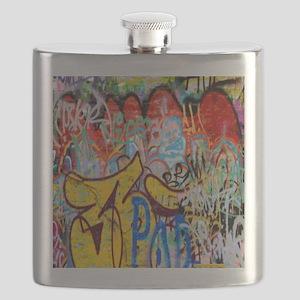 Colorful Graffiti Flask