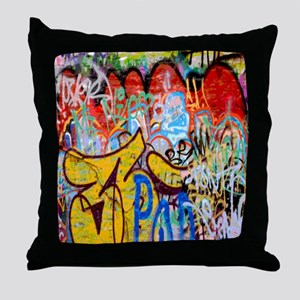 Colorful Graffiti Throw Pillow
