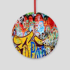 Colorful Graffiti Round Ornament