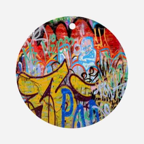 Colorful Graffiti Round Ornament