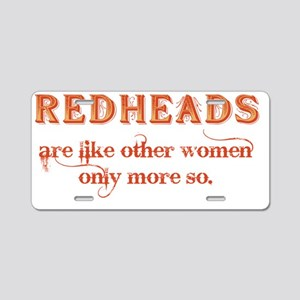 Redheads Aluminum License Plate