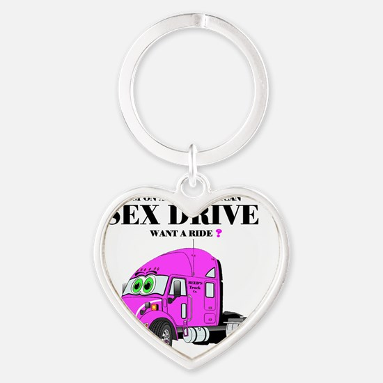 All American Sex Drive with Pink Tr Heart Keychain