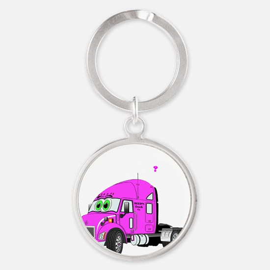 All American Sex Drive with Pink Tr Round Keychain