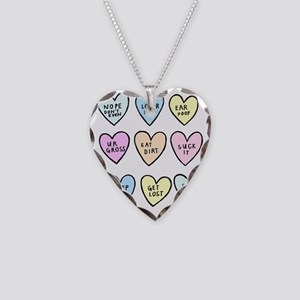 meanhearts Necklace Heart Charm