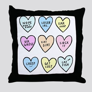 meanhearts Throw Pillow