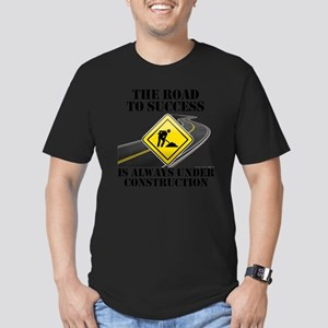 The Road to Success Is Men's Fitted T-Shirt (dark)