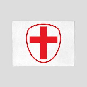 cross and shield 5'x7'Area Rug