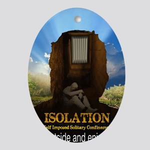 Isolation Oval Ornament