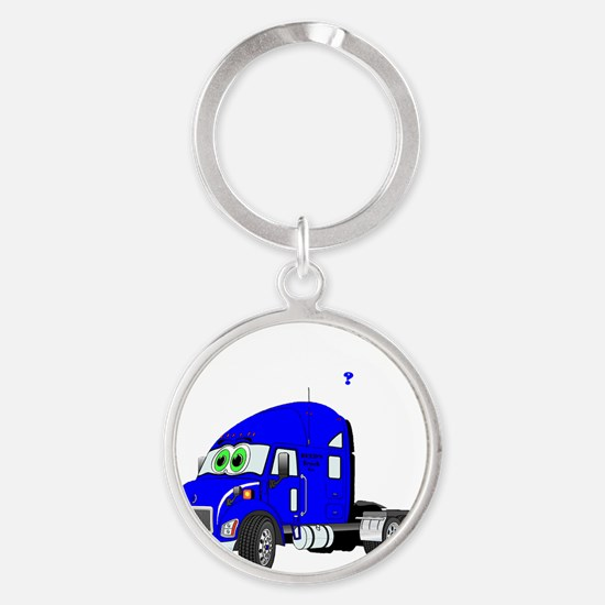 All American Sex Drive with Blue Tr Round Keychain