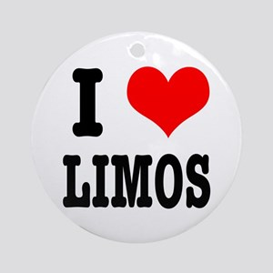 I Heart (Love) Limos Ornament (Round)